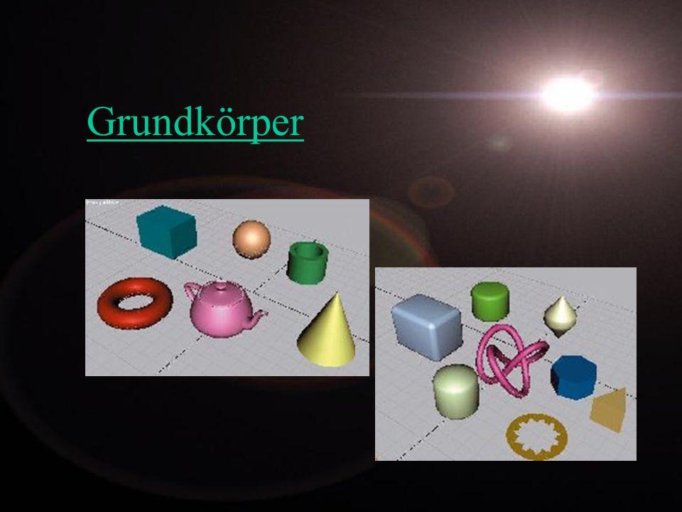 Texturen -Mappingarten -Kubisches Mapping -Spherisches Mapping -Zylindrisches Mapping -Projektion Die 3D Software liefert meistens noch viele weitere Mappingmethoden, die aber nahe Verwandte von den 3 Aufgeführten sind.