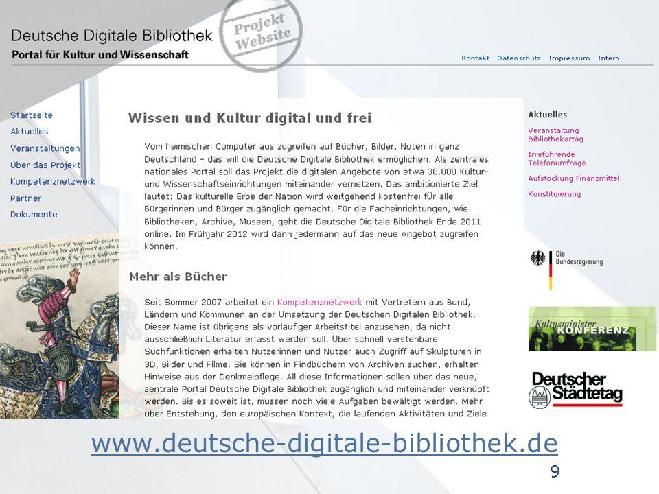 www.deutsche-digitale-bibliothek.de www.deutsche-digitale-bibliothek.de 9