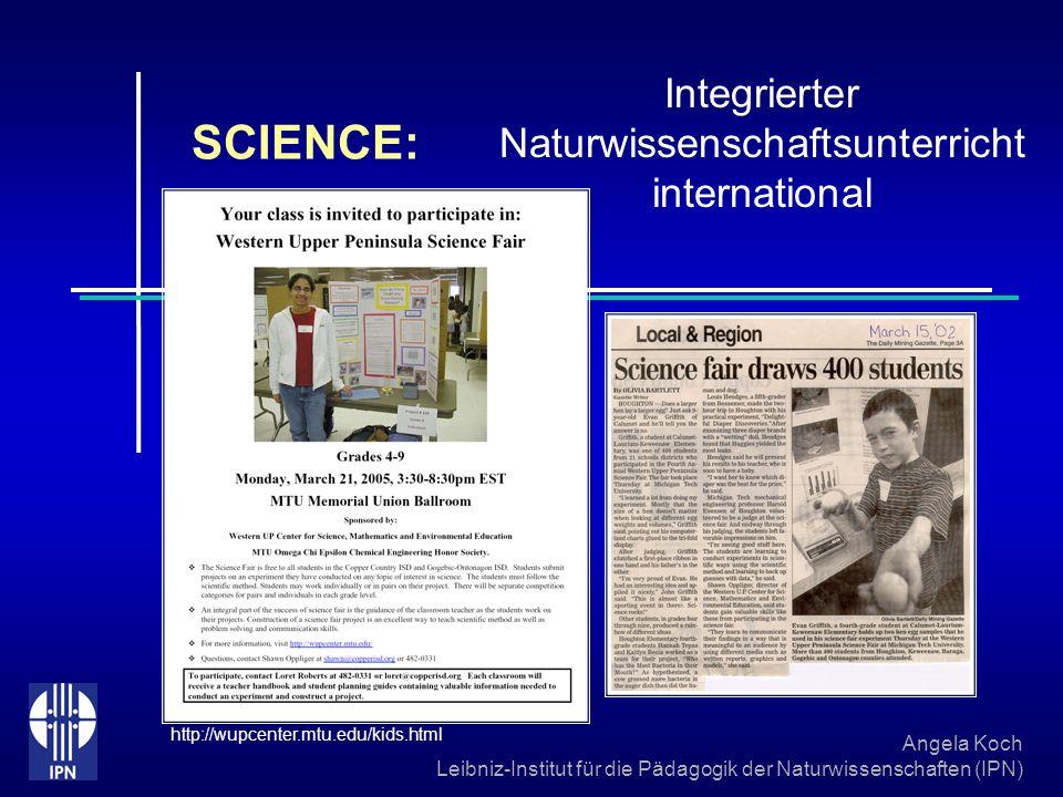Angela Koch Leibniz-Institut für die Pädagogik der Naturwissenschaften (IPN) Evaluation Ergebnisse der internationalen Vergleichsstudie TIMSS 2003 Aus: TIMSS 2003