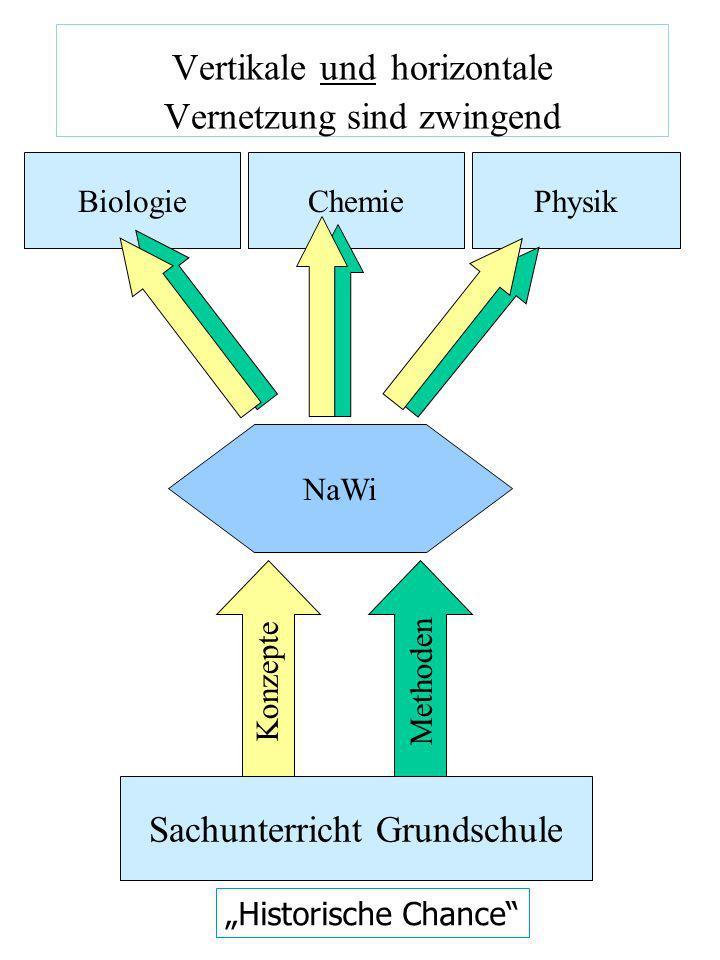 Vertikale und horizontale Vernetzung sind zwingend NaWi Sachunterricht Grundschule Methoden BiologieChemiePhysik Historische Chance Konzepte
