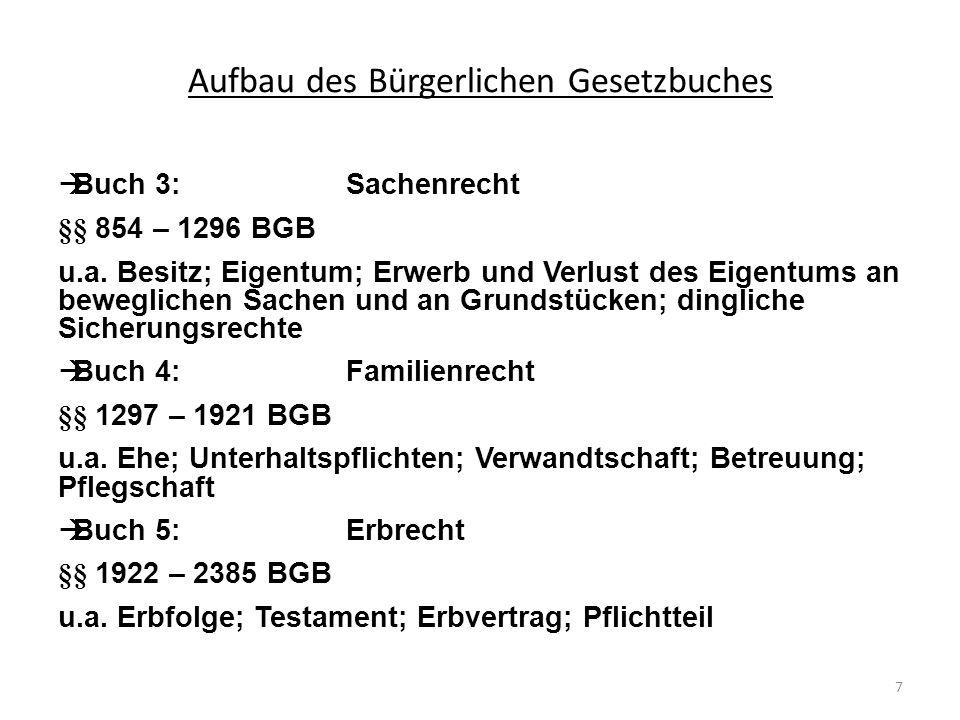 Mittelbarer Besitz, § 868 BGB Die tatsächliche Sachherrschaft wird durch einen anderen ausgeübt.