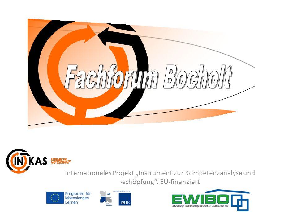 Internationales Projekt Instrument zur Kompetenzanalyse und -schöpfung, EU-finanziert