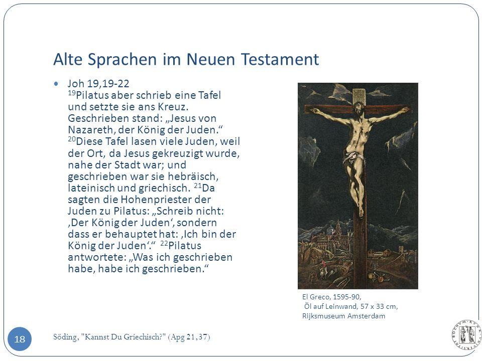 Alte Sprachen im Neuen Testament Söding,