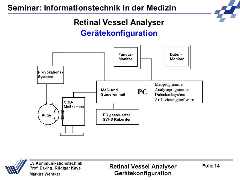 Seminar: Informationstechnik in der Medizin Folie 14 LS Kommunikationstechnik Prof.