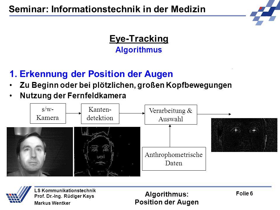 Seminar: Informationstechnik in der Medizin Folie 17 LS Kommunikationstechnik Prof.