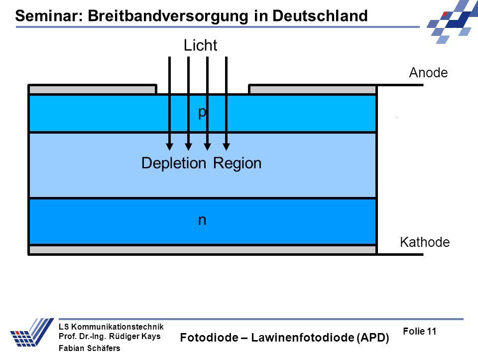 Seminar: Breitbandversorgung in Deutschland Folie 11 LS Kommunikationstechnik Prof.