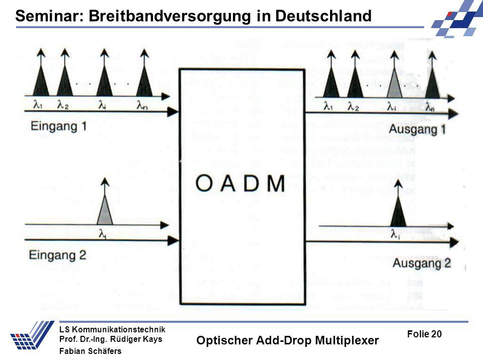Seminar: Breitbandversorgung in Deutschland Folie 20 LS Kommunikationstechnik Prof.