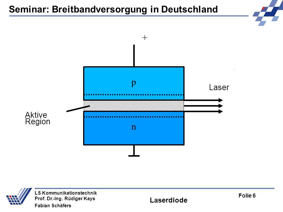 Seminar: Breitbandversorgung in Deutschland Folie 6 LS Kommunikationstechnik Prof.