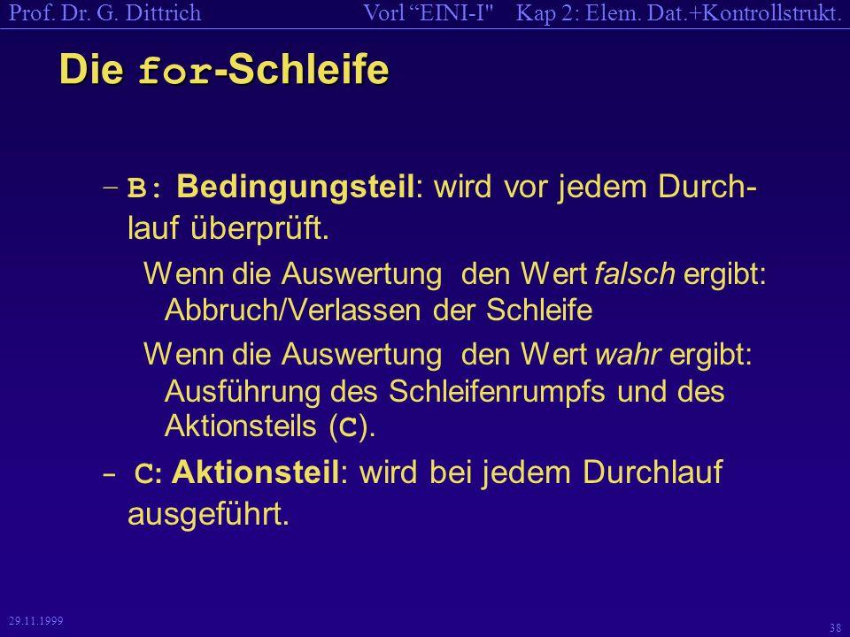 Kap 2: Elem. Dat.+Kontrollstrukt.Vorl EINI-I Prof.