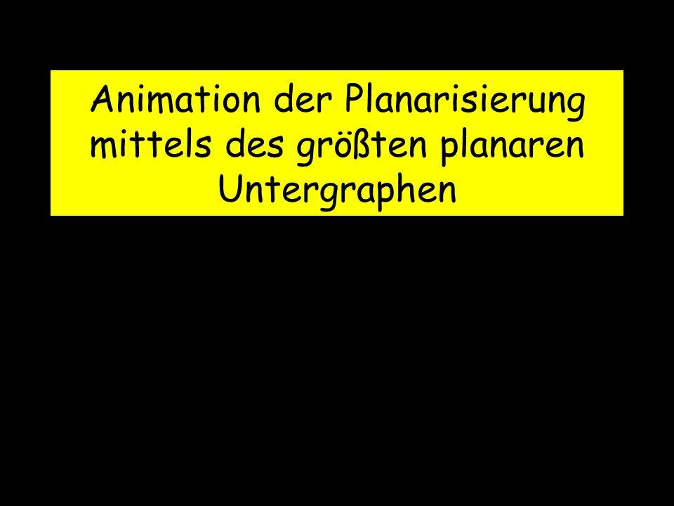 Animation der Planarisierung mittels des größten planaren Untergraphen