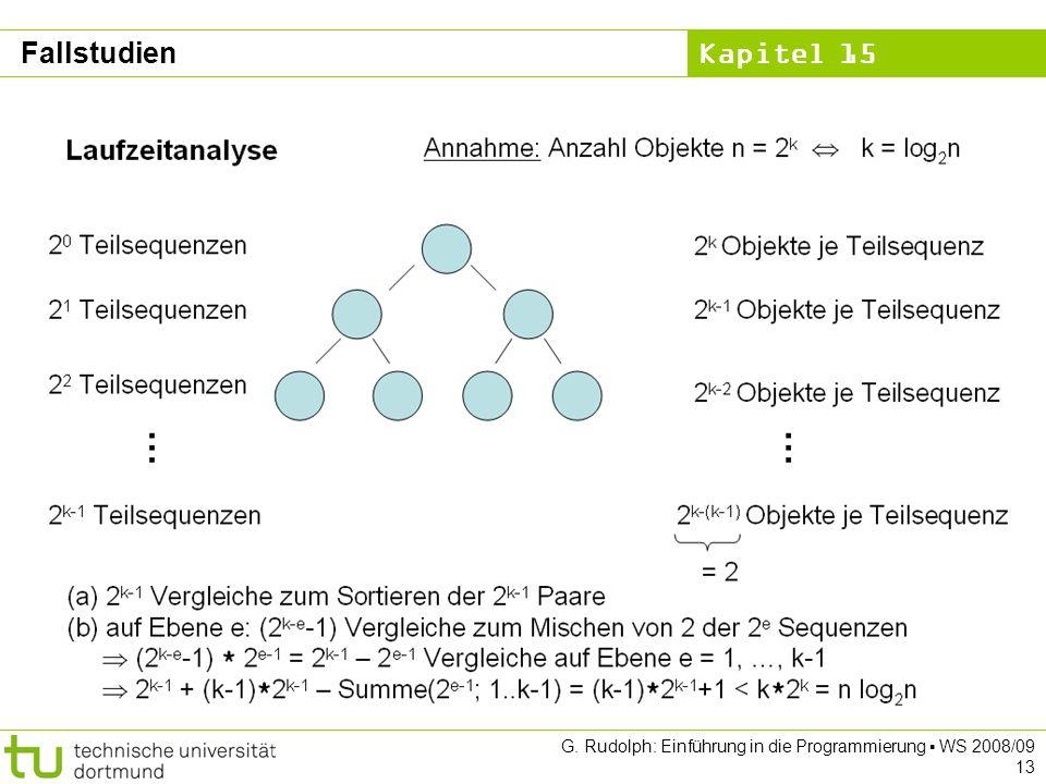 Kapitel 15 G. Rudolph: Einführung in die Programmierung WS 2008/09 13 Fallstudien