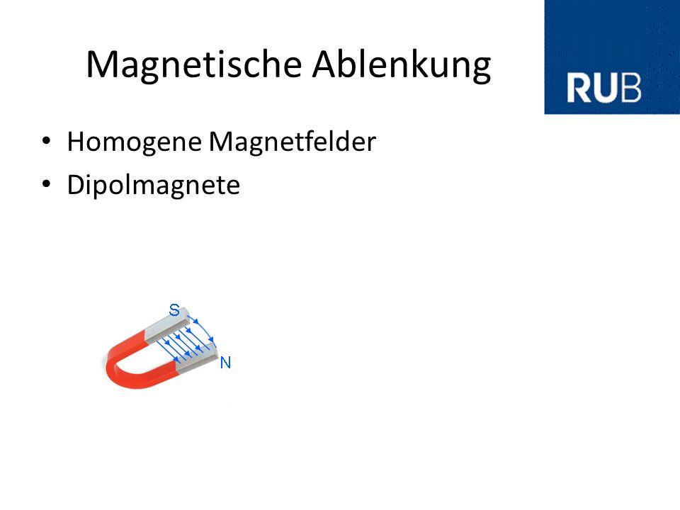Magnetische Ablenkung Homogene Magnetfelder Dipolmagnete