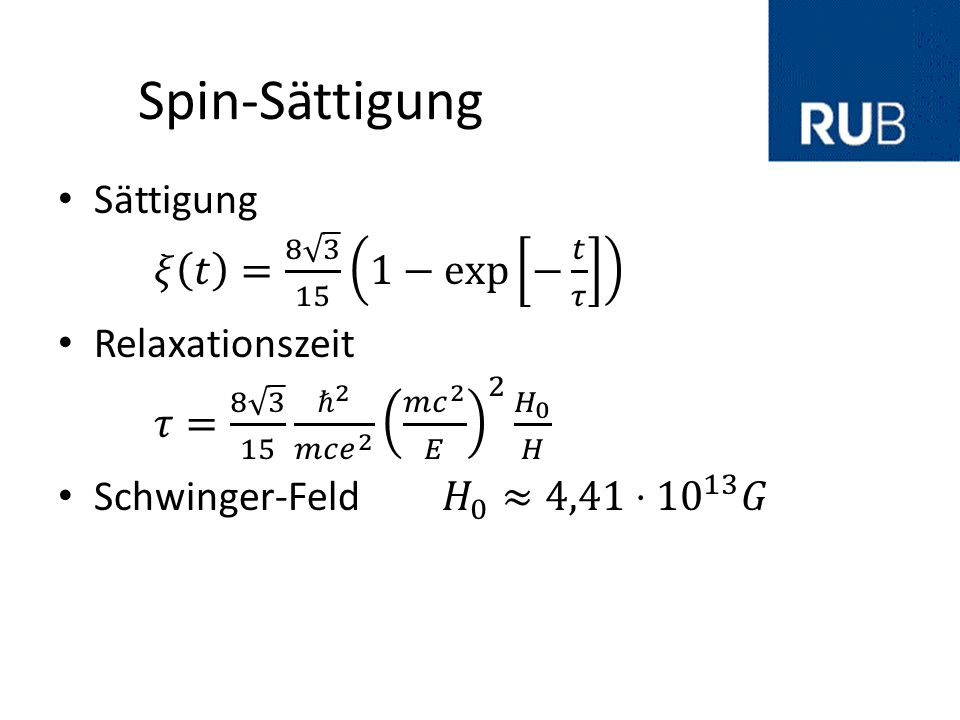 Spin-Sättigung