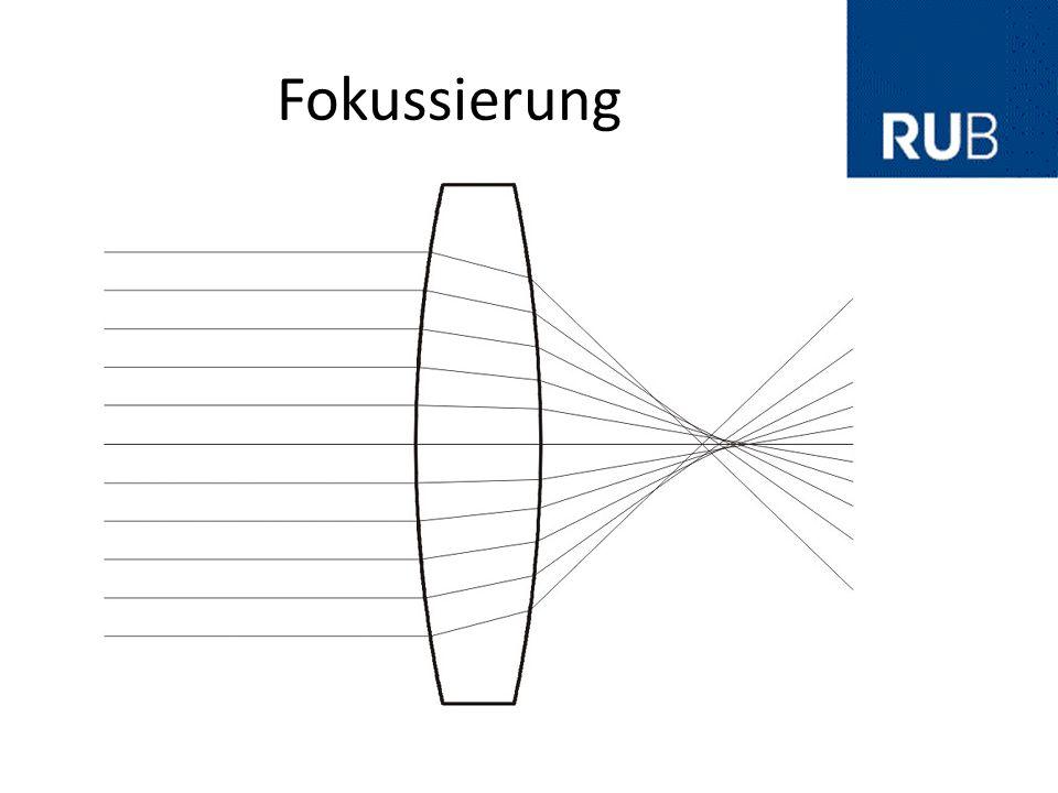 Elektrostatische Fokussierung und Ablenkung Keine Polarisation Die Kraft ist Geschwindigkeitsunabhängig Bei Ablenkung erfolgt eine Geschwindigkeitsänderung Quelle: www.chemgapedia.de