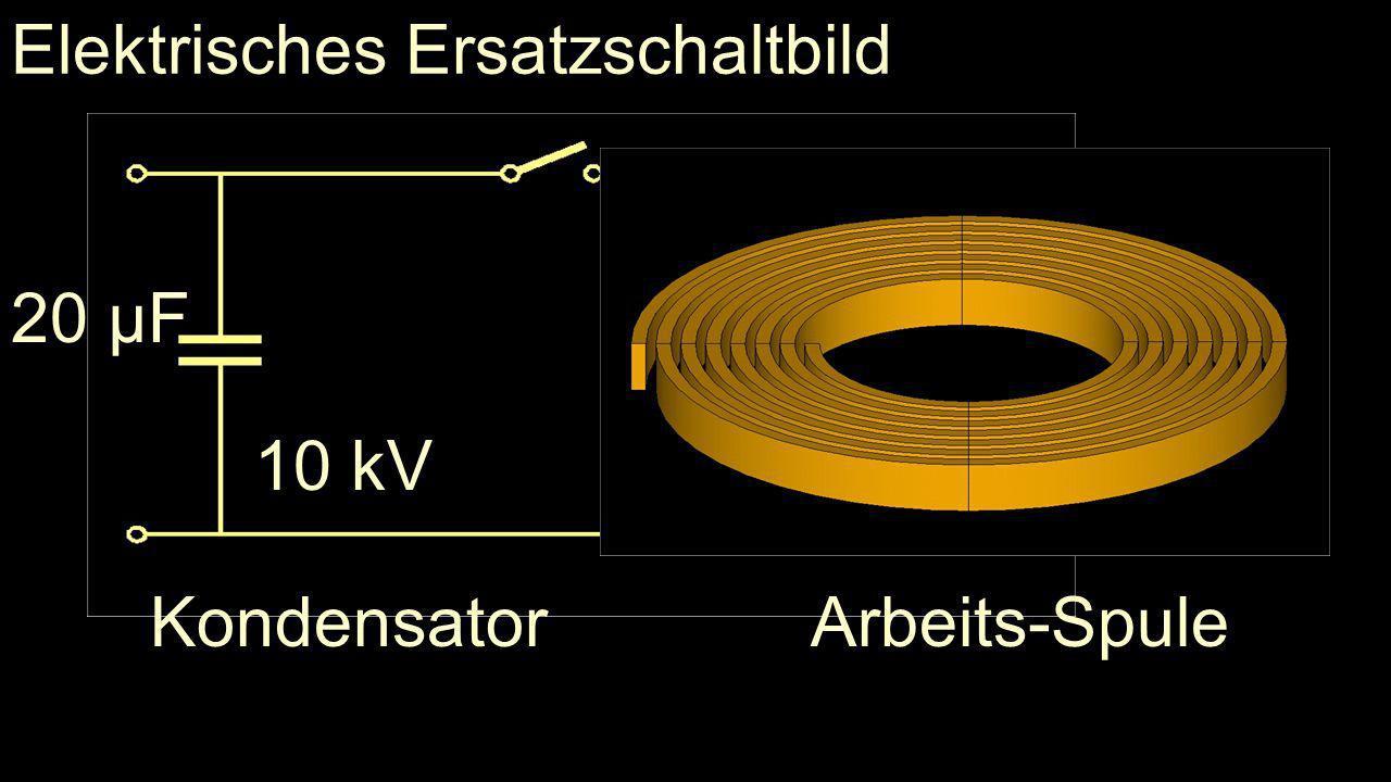 Elektrisches Ersatzschaltbild Kondensator 20 µF 10 kV Arbeits-Spule