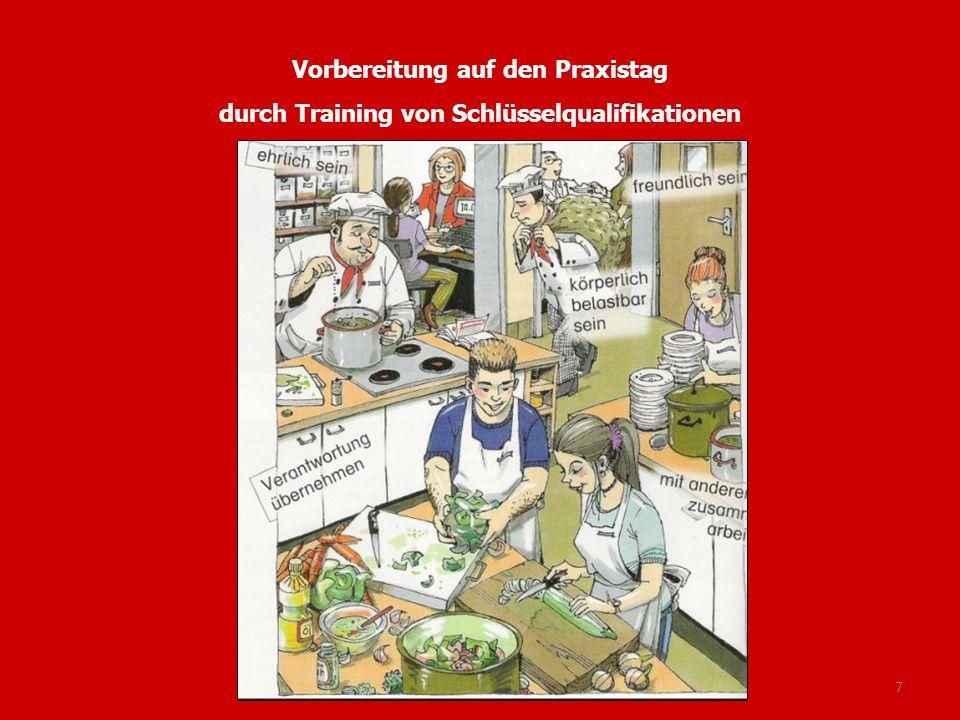7 Vorbereitung auf den Praxistag durch Training von Schlüsselqualifikationen