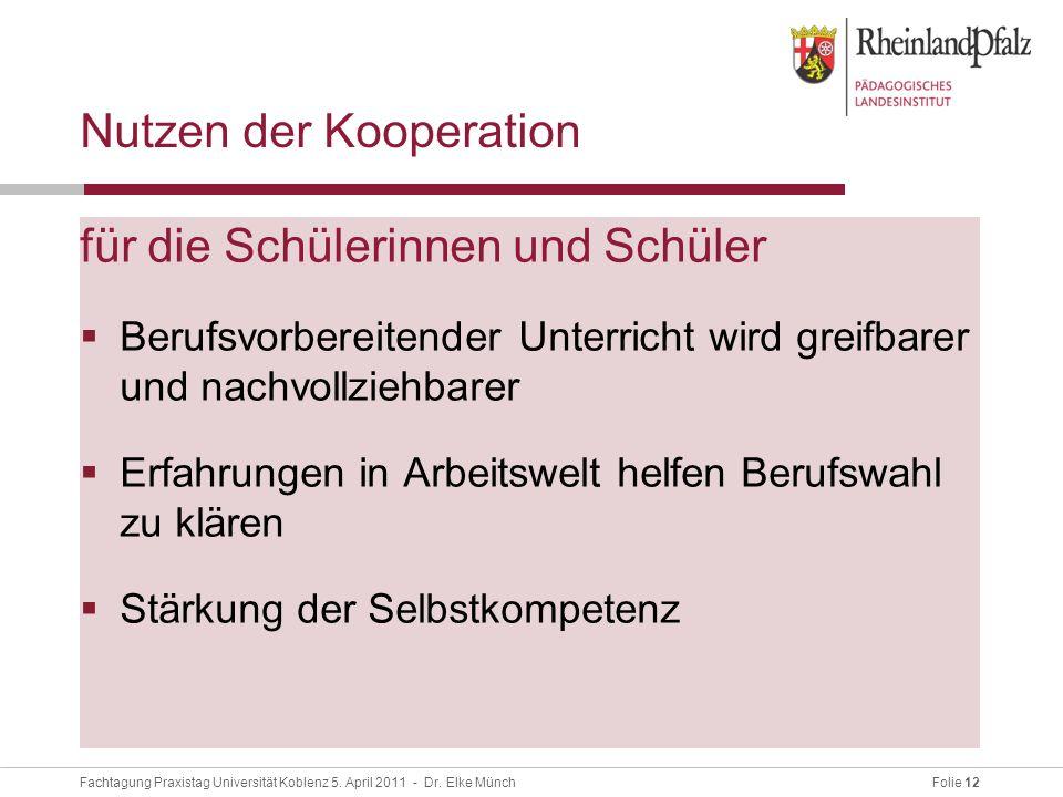Folie 12Fachtagung Praxistag Universität Koblenz 5.