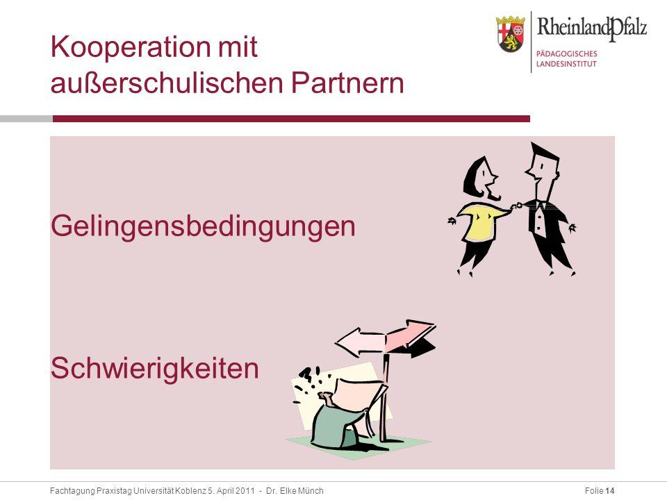 Folie 14Fachtagung Praxistag Universität Koblenz 5.