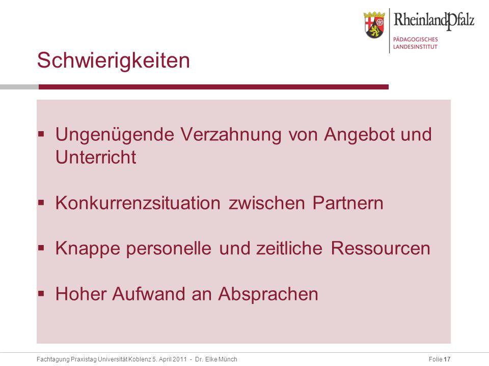 Folie 17Fachtagung Praxistag Universität Koblenz 5.