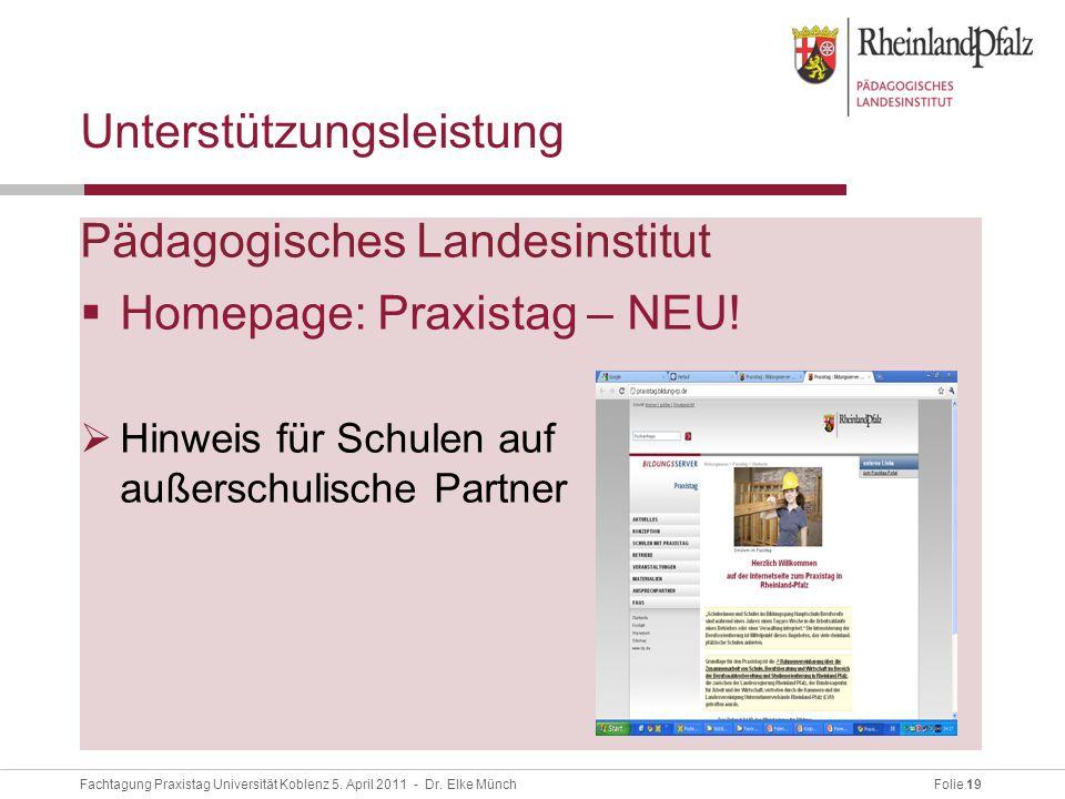 Folie 19Fachtagung Praxistag Universität Koblenz 5.
