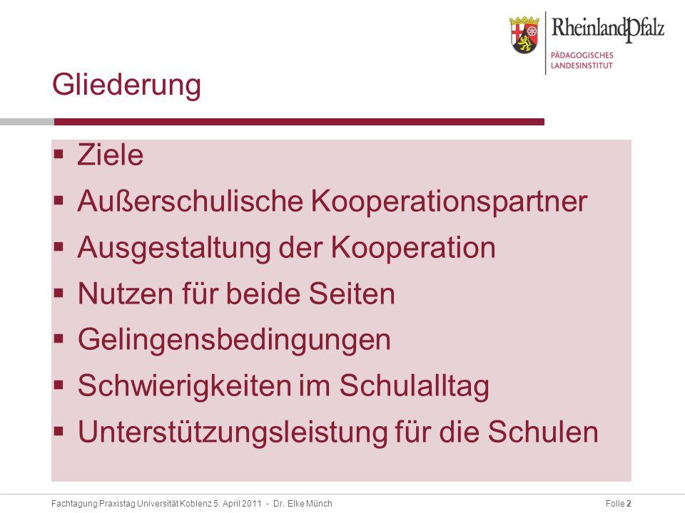 Folie 13Fachtagung Praxistag Universität Koblenz 5.