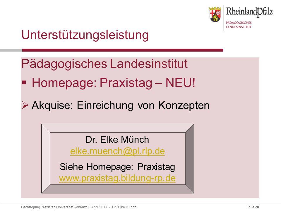 Folie 20Fachtagung Praxistag Universität Koblenz 5.