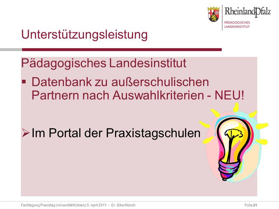 Folie 21Fachtagung Praxistag Universität Koblenz 5.