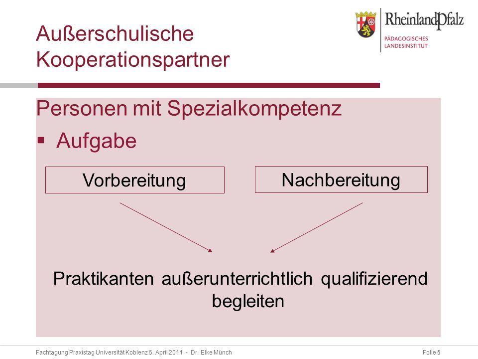 Folie 16Fachtagung Praxistag Universität Koblenz 5.