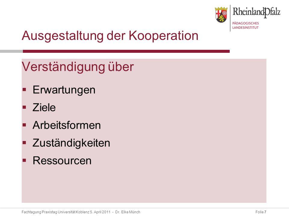 Folie 7Fachtagung Praxistag Universität Koblenz 5.