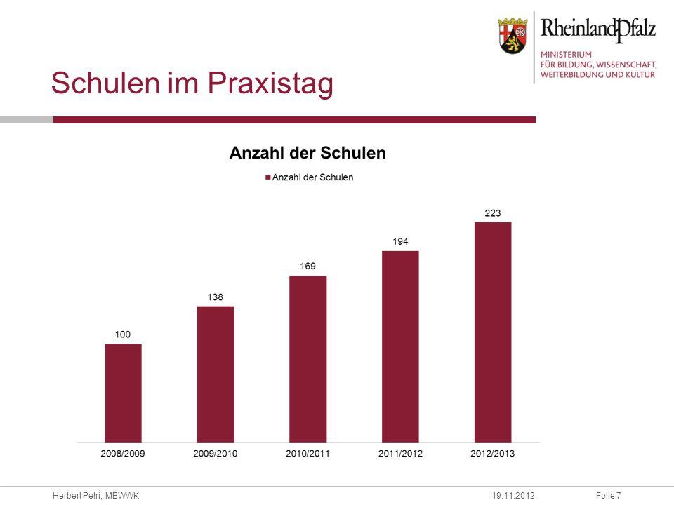 Folie 18Herbert Petri, MBWWK19.11.2012 Kontingent-Stundentafel: Realschule plus - Profilbildung
