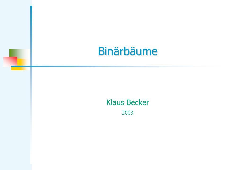 KB Binärbäume 12 Erzeugung des Termbaums * + x3 2x – 5* Aufgabe: Ein Binärbaum (wie der hier dargestellte) soll mit Hilfe der bisher implementierten Baumoperationen erzeugt werden.