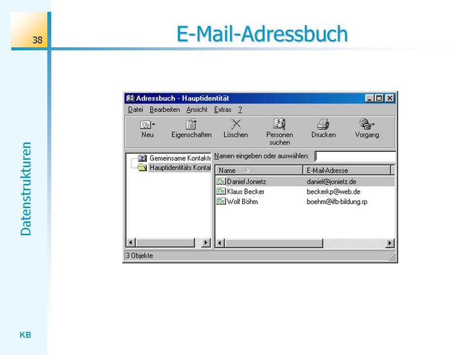 KB Datenstrukturen 38 E-Mail-Adressbuch