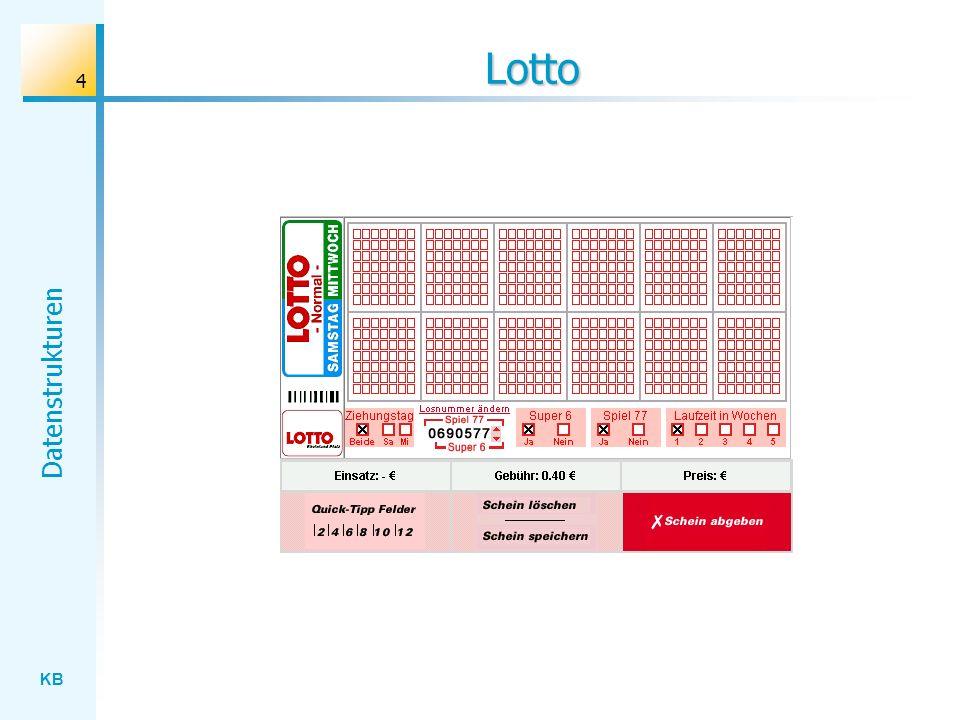 KB Datenstrukturen 4 Lotto