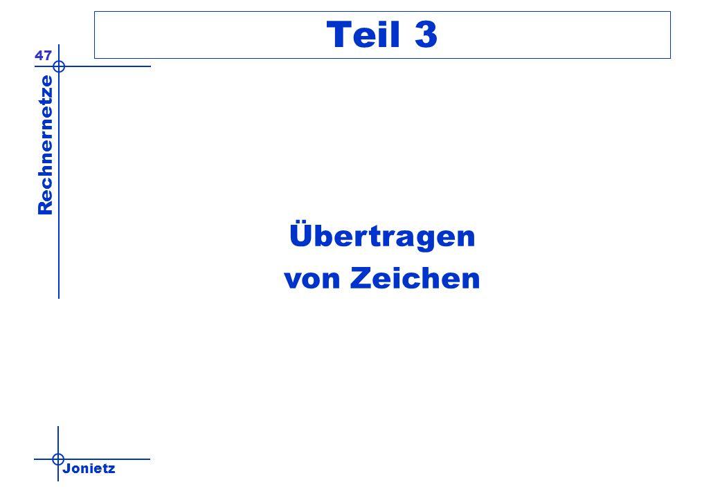 Jonietz Rechnernetze 47 Teil 3 Übertragen von Zeichen
