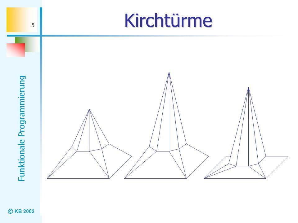 © KB 2002 Funktionale Programmierung 5 Kirchtürme