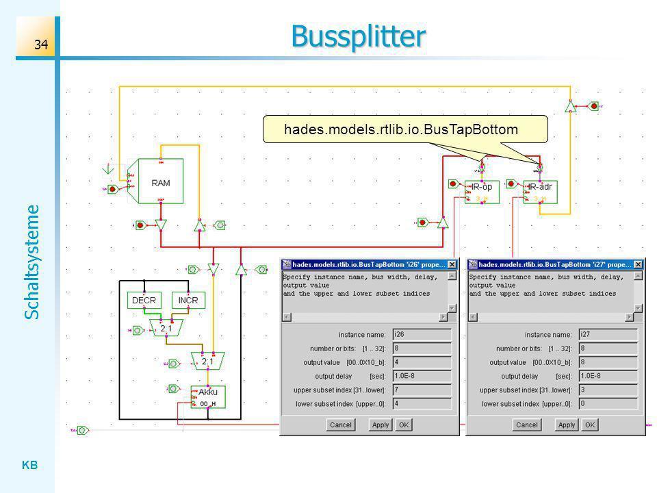 KB Schaltsysteme 34 Bussplitter hades.models.rtlib.io.BusTapBottom