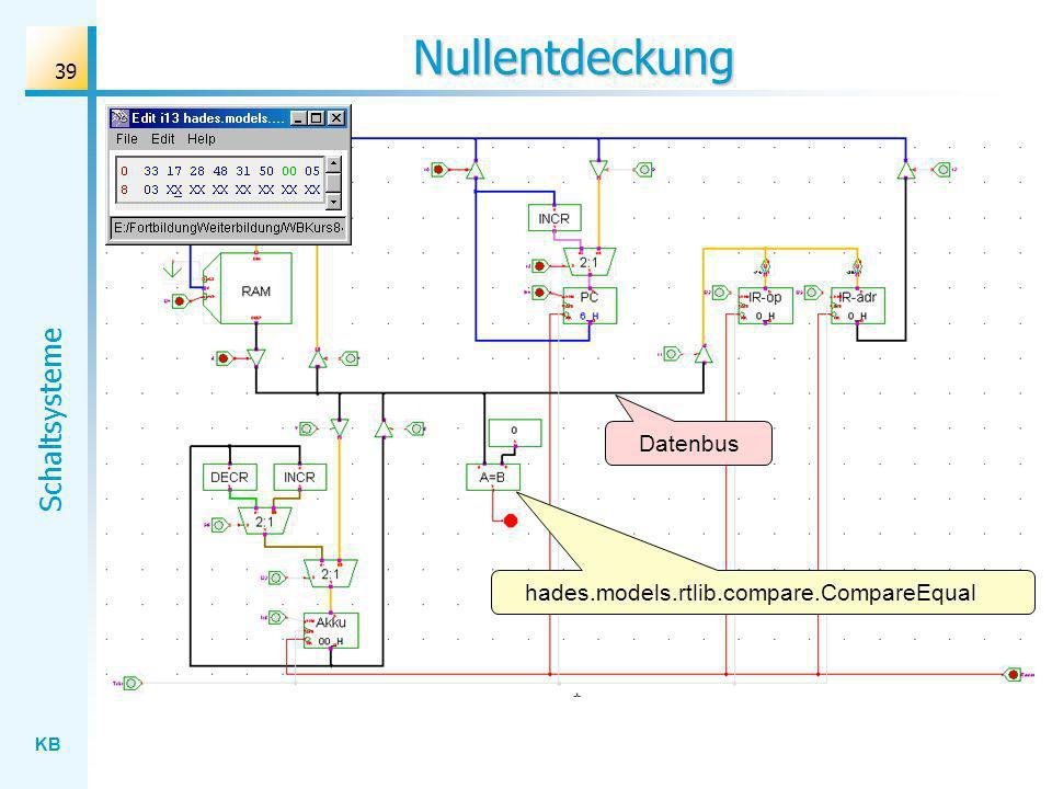 KB Schaltsysteme 39 Nullentdeckung Datenbus hades.models.rtlib.compare.CompareEqual