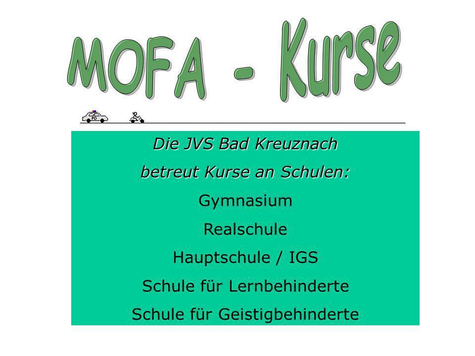 Die JVS Bad Kreuznach betreut Kurse an Schulen: Gymnasium Realschule Hauptschule / IGS Schule für Lernbehinderte Schule für Geistigbehinderte