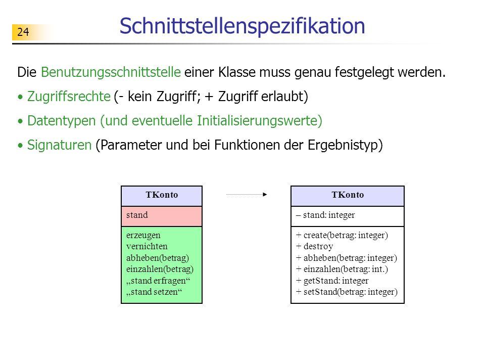 25 UML wuerfelAwuerfelBwuerfelC augen = 3 augen = 5 instance of UML- Klassendiagramm UML- Objektdiagramm UML (Unified Modeling Language): Grafische Sprache zur Beschreibung objektorientierter Modelle TWuerfel augen erzeugen vernichten werfen