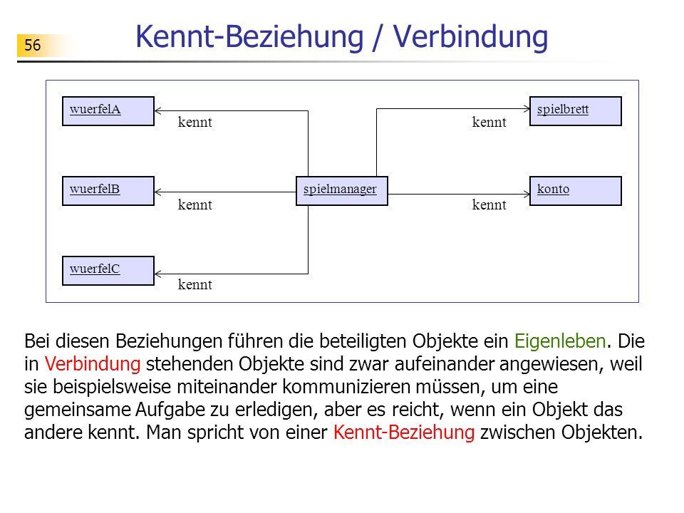 57 Hat-Beziehung / Komposition Bei dieser Struktur geht man davon aus, dass ein Objekt ein anderes besitzt, d.