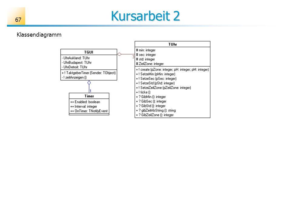 Kursarbeit 2 67 Klassendiagramm