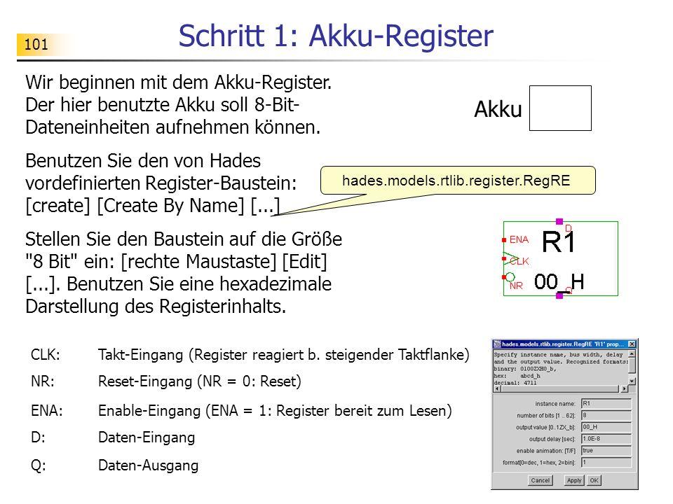 101 Schritt 1: Akku-Register Wir beginnen mit dem Akku-Register.