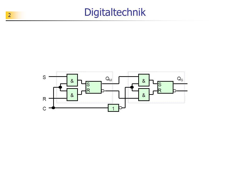 2 Digitaltechnik S R S R & & C S R & & 1 QSQS QMQM