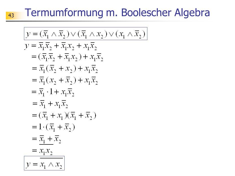 43 Termumformung m. Boolescher Algebra