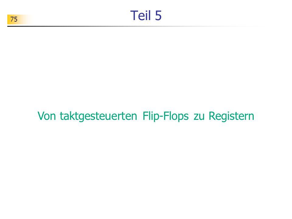75 Teil 5 Von taktgesteuerten Flip-Flops zu Registern