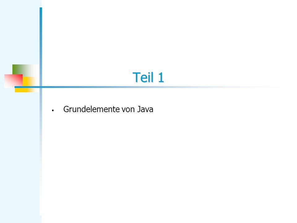 Teil 1 Grundelemente von Java