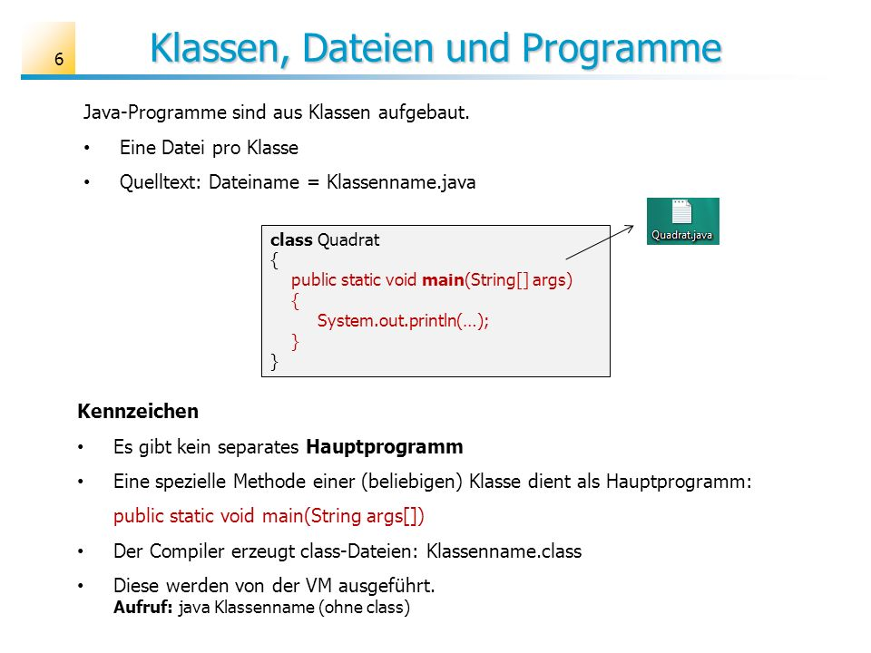 Die Klasse RechnerGUI 17 import java.awt.*; import java.awt.event.*; public class RechnerGUI extends Frame { // Anfang Attribute // Ende Attribute public RechnerGUI(String title) { // Frame-Initialisierung ………….