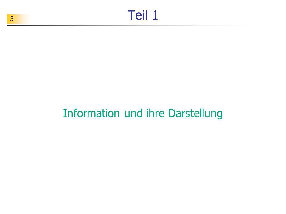 3 Teil 1 Information und ihre Darstellung