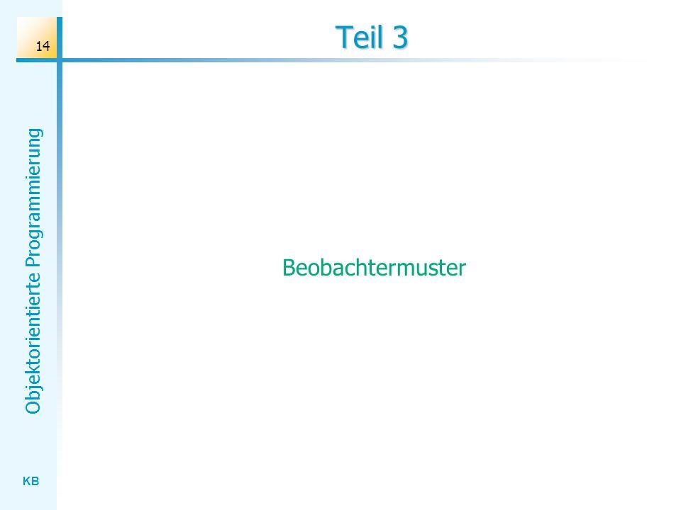 KB Objektorientierte Programmierung 14 Teil 3 Beobachtermuster