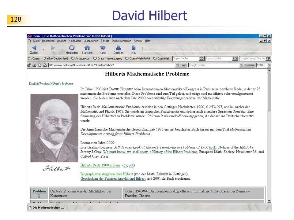 128 David Hilbert